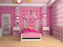 pink children u0027s room with a bed 3d image stock photo picture and