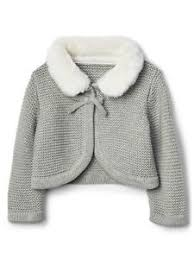 sweater with faux fur collar baby gap gray ls faux fur collar garter sweater cardigan nwt