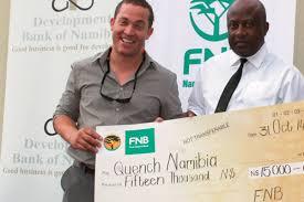 nbic business plan runner up receives prize new era newspaper