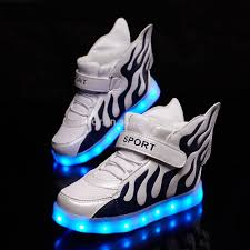 Kids Light Up Shoes Wholesale Led Light Up Shoes For Children Casual Popular High Top