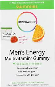 rainbow light vitamins mens rainbow light mens multivitamin energy gummy 30 packets