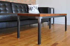 steel and wood table chicago custom steel furniture tremont and reclaimed wood coffee