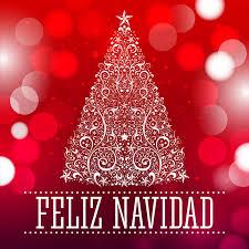 feliz navidad merry christmas spanish text stock vector image