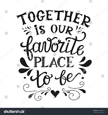 wedding quotes about family lettering typography poster family stock illustration