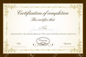 illustration of certificate template with floral frame royalty