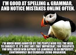 Correct Grammar Meme - i m good at spelling grammar and on memegen