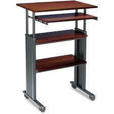 Stand Up Computer Desk Adjustable Adjustable Height Stand Up Computer Desk Workstation In Cherry