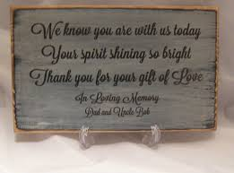 wedding memorial sign rustic memorial sign for wedding or special event distressed and