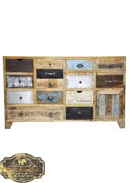 recycled timber country multi drawer vintage timber sideboard