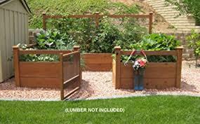 Wood For Raised Vegetable Garden by Amazon Com Just Add Lumber Vegetable Garden Kit 8 U0027x12 U0027 Deluxe