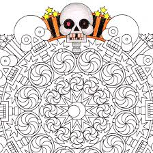 2spooky halloween mandala candyhippie coloring pages
