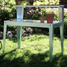 Galvanized Outdoor Chairs 24 X 44 Inch Galvanized Steel Top Utility Table Workbench Potting