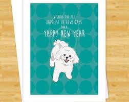 bichon frise years dog cards beagle feliz naughty dog funny dog christmas