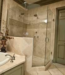 wonderful tile wall closed big bathtub under nice lighting side