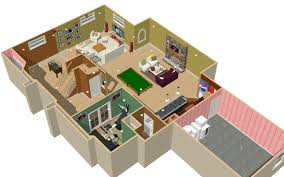 Basement Finishing Floor Plans - 3d basement gallery basement remodeling chicago area