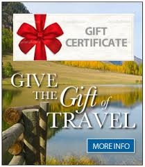 travel gift certificates travel gift certificates for any lodging activity or package