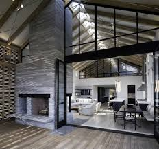 Barn Style by Unusual Barn Style Home With Slatted Wood Siding