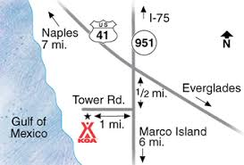 Marcos Island Florida Map Naples Florida Campground Naples Marco Island Koa
