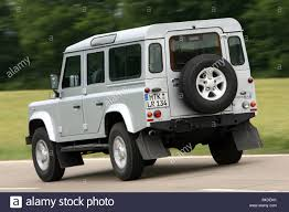 land rover rear land rover defender 110 td4 station se model year 2007 silver