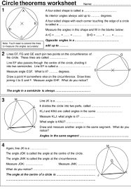 Interior Angles In A Circle Circle Theorems Investigative Worksheet By Lynneinjapan Teaching