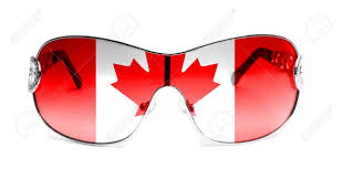 Flag Sunglasses Sunglasses With Painted Canada Flag Stock Photo Picture And
