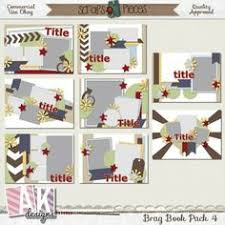 5x7 brag book something to brag about 4x6 mini album templates by chrissyw two