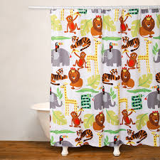 No Liner Shower Curtain Crayola Jungle No Liner Shower Curtain Jcpenney