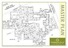 site plan of emerald hills villa plots gurgaon villa plots of