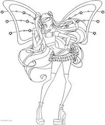 flora transformation bloomix coloring page coloring pages first