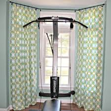 Floor To Ceiling Curtain Rods Decor Floors Rugs Attractive Bay Window Curtain Rods For Modern