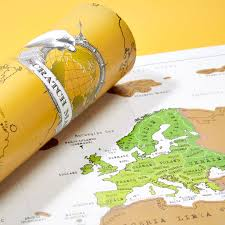 Map Poster Scratch Map Original World Map Poster