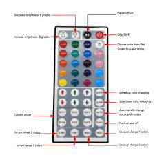 led strip lights remote rgb color keys zdm waterproof 5m 24w rgb smd light led strip