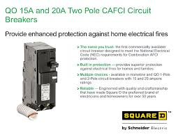 square d qo 15 amp 2 pole combination arc fault circuit breaker