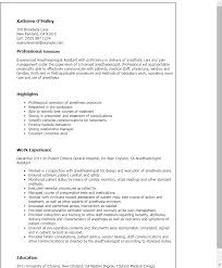 Professional Resume Examples The Best Resume by Professional Anesthesiologist Assistant Templates To Showcase Your
