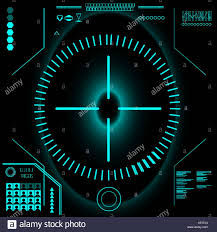Futuristic Clock Touch Panel Stock Vector Images Alamy