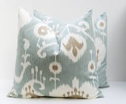 light blue pillow cases pillows decorative pillow covers blue pillow ikat pillows ikat