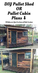 diy how to build a shed pallets cabin and pallet projects