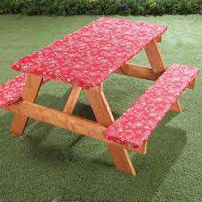 3 piece fitted picnic table bench covers elastic picnic table covers walter drake