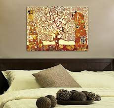 canvas decorations for home wieco art tree of life giclee canvas prints gustav klimt artwork