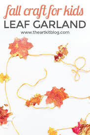fall craft for kids leaf garland