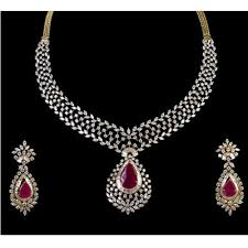 picture diamond necklace images Designer diamond necklace set at rs 350000 piece heere ke haar jpg