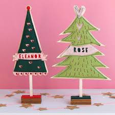 personalised free standing felt christmas tree by house of hooray