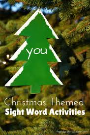 christmas themed sight word activities the educators u0027 spin on it