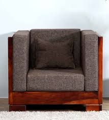One Seater Sofa Bed Buy Ruston Single Seater Sofa In Honey Oak Finish By Woodsworth