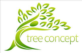 green tree logos vector graphic 02 vector logo free