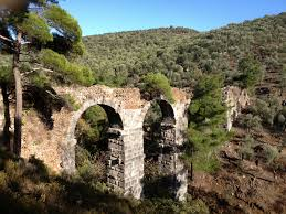 roman aqueduct at lambou mili lesvos greece lesvos landscapes
