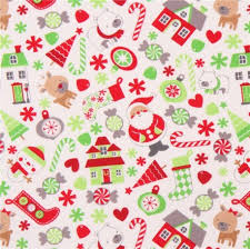 christmas pattern knit fabric white cute christmas tree animal knit fabric riley blake home for