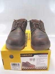 carolina mens smooth sole steel toe brown oxford work shoe size 14