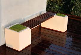 Small Space Patio Sets by Small Space Patio Furniture Concrete And Ipe Bench Modern Deck