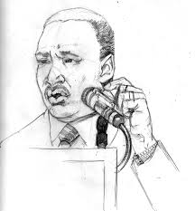 sketch please martin luther king jr